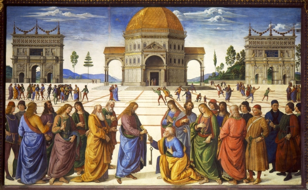 The Delivery of the Keys by Pietro Perugino. (Source WIKI: Public Domain)